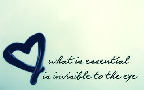 The Essential is Invisible